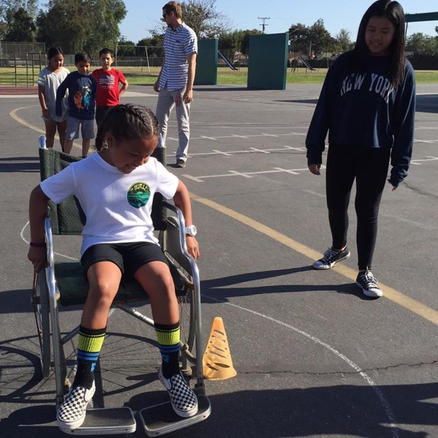 Our friends at our Disability Awareness Event admire their own great qualities as they engage in fun activities with their classmates!